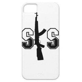 Negro del logotipo del rifle de asalto de SKS Funda Para iPhone 5 Barely There