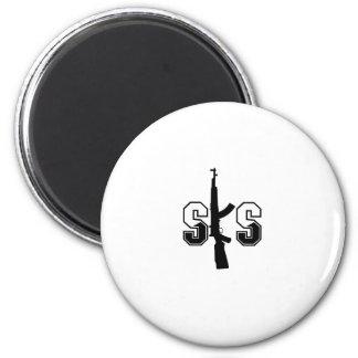 Negro del logotipo del rifle de asalto de SKS Imán Redondo 5 Cm
