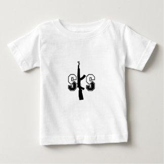Negro del logotipo del rifle de asalto de SKS Playera De Bebé