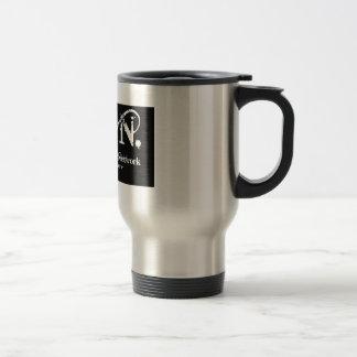 Negro del logotipo del zen taza de viaje de acero inoxidable