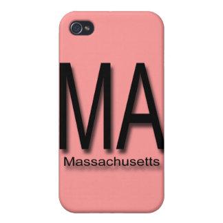 Negro del mA Massachusetts iPhone 4 Protectores