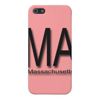Negro del mA Massachusetts iPhone 5 Protector