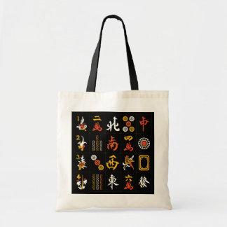 Negro del Mah Jongg/bolso anaranjado/amarillo