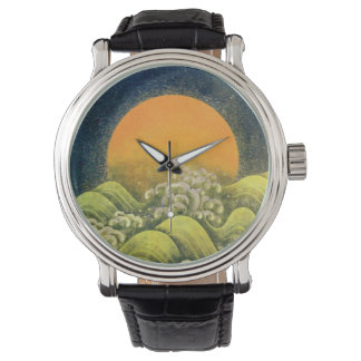 Negro del marrón del verde amarillo de la DIOSA Relojes