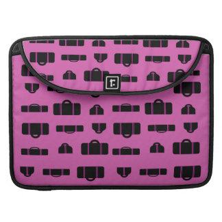 Negro del modelo del equipaje fundas para macbook pro