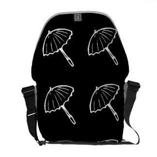 negro del modelo del paraguas bolsa messenger