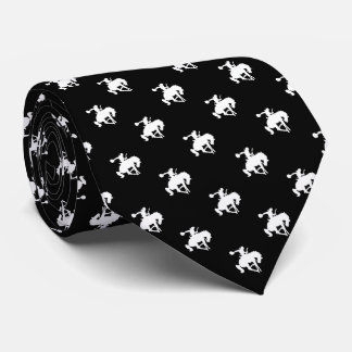 Negro del modelo el   del vaquero del rodeo corbatas personalizadas