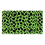 Negro del modelo y verde de cal gráficos abstracto plantilla de tarjeta personal