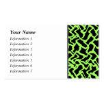 Negro del modelo y verde de cal gráficos abstracto plantillas de tarjetas personales