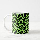 Negro del modelo y verde de cal gráficos abstracto tazas