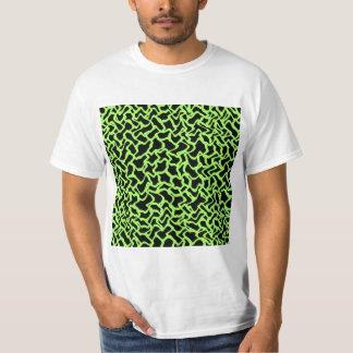 Negro del modelo y verde de cal gráficos camisas