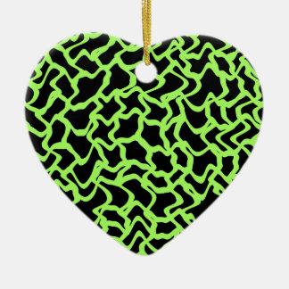 Negro del modelo y verde de cal gráficos ornamento para arbol de navidad
