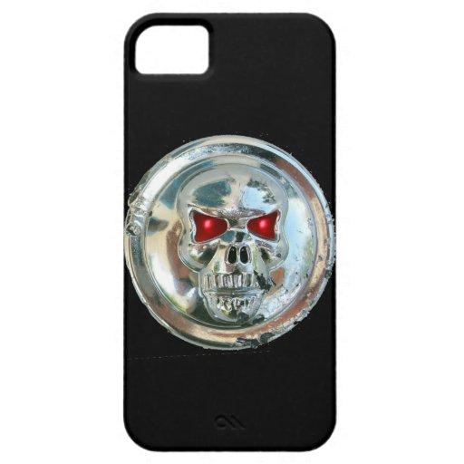 Negro del MONOGRAMA de los JINETES del CRÁNEO iPhone 5 Case-Mate Coberturas