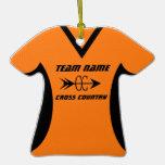 Negro del naranja del jersey del campo a través ornatos
