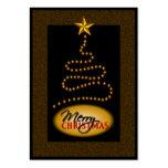 Negro del navidad y etiquetas del regalo del oro tarjeta de visita