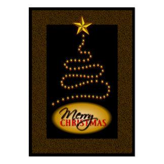 Negro del navidad y etiquetas del regalo del oro tarjetas de visita grandes