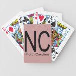 Negro del NC Carolina del Norte Baraja De Cartas
