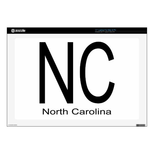 Negro del NC Carolina del Norte Calcomanías Para 43,2cm Portátiles