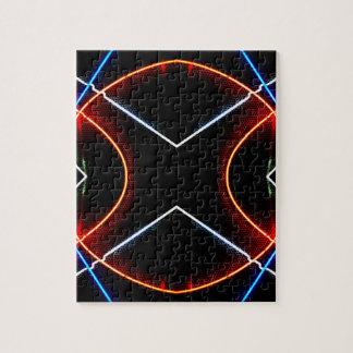 Negro del neón NYC y arte fotográfico de neón Rompecabeza