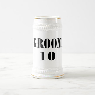 Negro del novio 10 jarra de cerveza