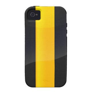 Negro del orgullo de Pittsburgh y diseño del casco iPhone 4/4S Carcasas
