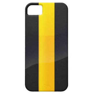 Negro del orgullo de Pittsburgh y diseño del casco iPhone 5 Case-Mate Fundas