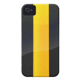 Negro del orgullo de Pittsburgh y diseño del casco iPhone 4 Case-Mate Cárcasa