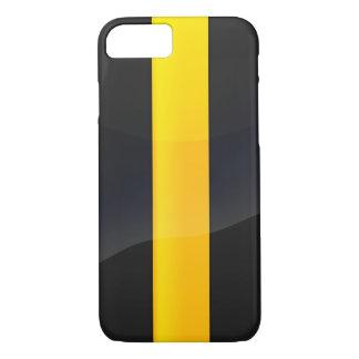 Negro del orgullo de Pittsburgh y diseño del casco Funda iPhone 7
