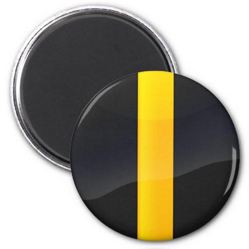 Negro del orgullo de Pittsburgh y diseño del casco Imán Redondo 5 Cm