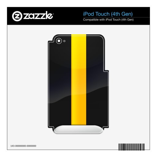 Negro del orgullo de Pittsburgh y diseño del casco iPod Touch 4G Skins