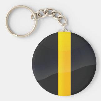 Negro del orgullo de Pittsburgh y diseño del casco Llavero Redondo Tipo Pin