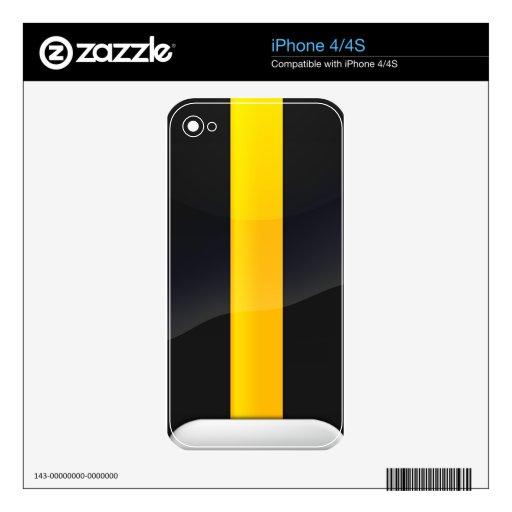 Negro del orgullo de Pittsburgh y diseño del casco iPhone 4S Skins