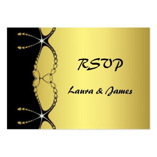 Negro del oro de la cadena de la joya del diamante plantilla de tarjeta personal