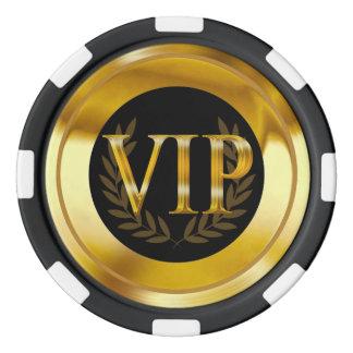 Negro del oro de Las Vegas de la guirnalda del Fichas De Póquer