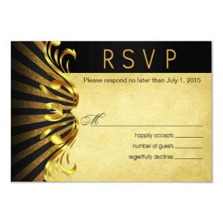 Negro del oro de Nouveau Vegas RSVP el | del arte Comunicados