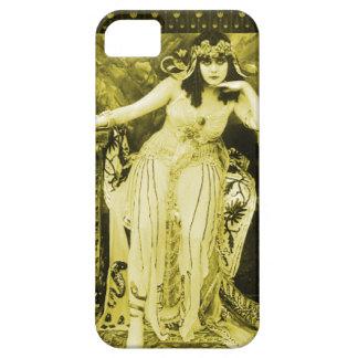 Negro del oro del caso del iPhone 5 de Theda Bara Funda Para iPhone SE/5/5s