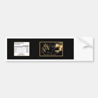 Negro del oro del Mis XV de la etiqueta de la bote Pegatina Para Auto
