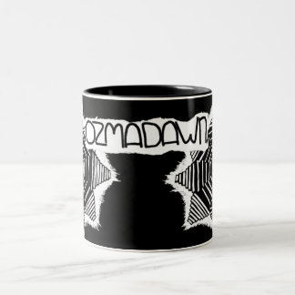 negro del ozmadawn en blanco taza de dos tonos