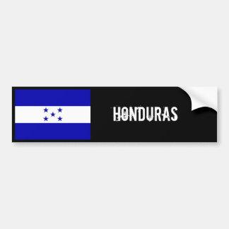 Negro del parachoque de la bandera de Honduras Pegatina De Parachoque