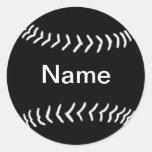 Negro del pegatina de la silueta del softball