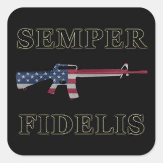 Negro del pegatina de Semper Fidelis M16