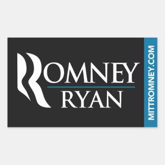 Negro del pegatina del logotipo de Romney Ryan