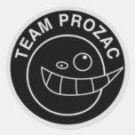 Negro del pegatina del Prozac del equipo
