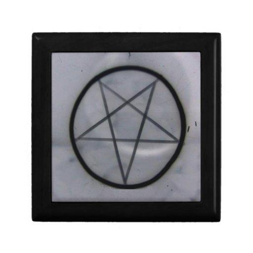 Negro del Pentagram Caja De Joyas
