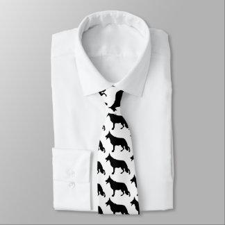 Negro del perro de pastor alemán corbatas personalizadas
