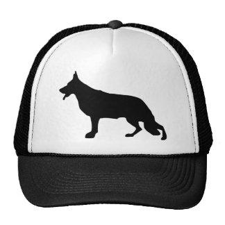 Negro del perro de pastor alemán gorro