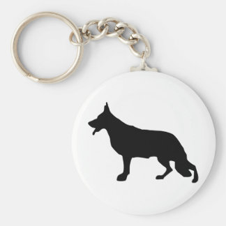 Negro del perro de pastor alemán llaveros personalizados