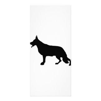 Negro del perro de pastor alemán lona personalizada
