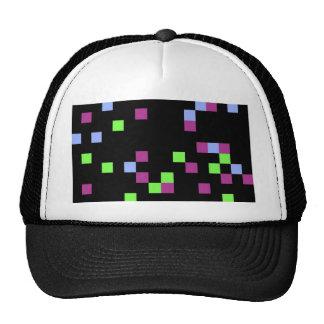 negro del pixel gorras de camionero