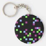 negro del pixel llaveros personalizados